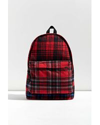 Urban Outfitters Uo Brushed Plaid Backpack - Red