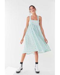 Kimchi Blue Bursting Heart Sequin Dress - Blue