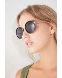 Urban Outfitters - Avril Round Metal Sunglasses - Lyst