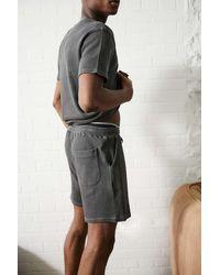 Urban Outfitters Uo Grey Waffle Loungewear Shorts - Black