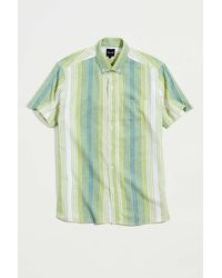Pleasant Upcycled Striped Print Shirt - Green