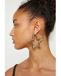 Urban Outfitters - Bamboo Star Hoop Earrings - Lyst
