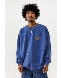BDG Navy Crest Embroidered Sweatshirt - Blue