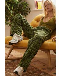 BDG Green Juno Tiger Print Carpenter Pant