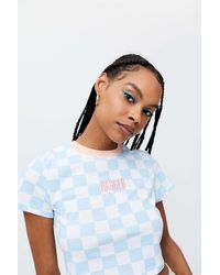 The Ragged Priest Flock Cropped Tee - Blue