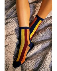 Out From Under - Vertical Stripe Crew Socks - Lyst