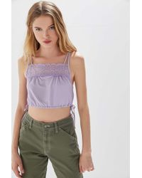Out From Under Penny Side-tie Cropped Cami - Multicolour