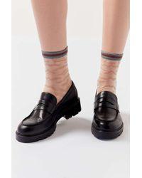 Urban Outfitters Uo Zebra Monofilament Sock - Multicolour