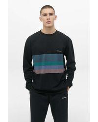 iets frans... Placement Stripe Long Sleeve T-shirt - Black