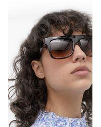 Urban Outfitters Uo Tortoiseshell Flat Top Sunglasses - Multicolour