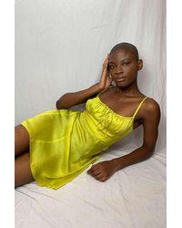 Urban Outfitters Uo Kamaryn Satin Slip Mini Dress - Green