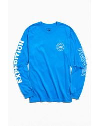 The North Face Double Sleeve Graphic Long Sleeve Tee - Blue