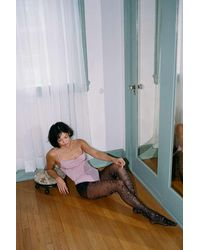 Urban Outfitters Sheer Butterfly Tights - Black