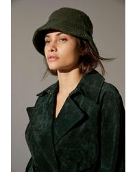 Urban Outfitters Uo Sherpa Bucket Hat - Green