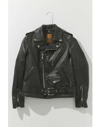 Schott Nyc Leather Moto Jacket - Black