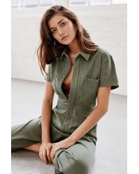 Urban Outfitters - Uo Canvas Flight Jumpsuit - Lyst