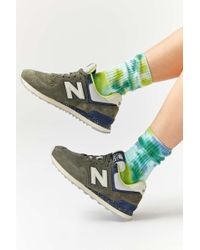 Urban Outfitters Uo Tie-dye Crew Sock - Green