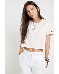 383a925376 Centre Logo Script Cropped T-shirt - Womens S - White