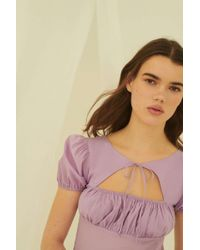 81708091d5 Urban Outfitters - Uo Winnie Tie-front Cutout Mini Dress - Lyst