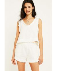 Urban Outfitters - Uo Rori Raw Hem High-rise Shorts - Lyst