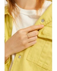 Urban Outfitters Sweetheart Signet Ring - Metallic