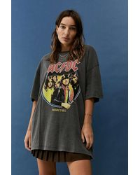 Urban Outfitters Uo Acdc Dad T-shirt - Grey