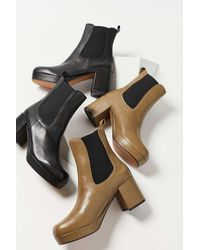 INTENTIONALLY ______ Austria Heeled Chelsea Boot - Green