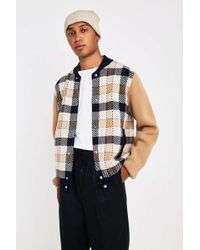 Lacoste L!ive - Checked Wool Bomber Jacket - Mens S - Lyst