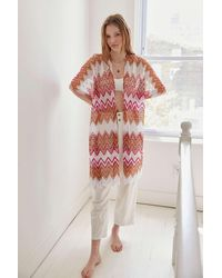 Urban Outfitters Calypso Crochet Robe - Multicolour