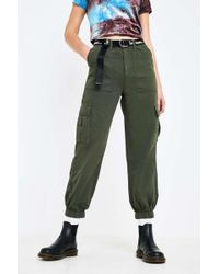 Urban Outfitters Uo Khaki Green Cargo Pant