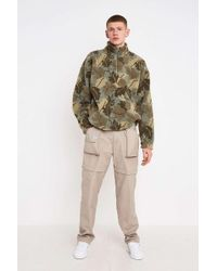 Urban Renewal Salvaged Deadstock Tobacco Zip-off Leg Cargo Trousers - Natural