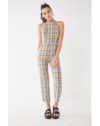 2dd81cc7e809 Urban Outfitters - Uo Hattie High-neck Linen Jumpsuit - Lyst