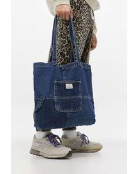 BDG Dark Wash Denim Tote Bag - Blue