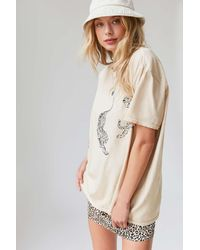 Project Social T Tiger Overdyed T-shirt Dress - Natural