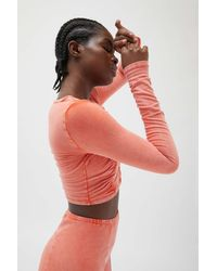 Out From Under Fitted Cropped Cardigan - Orange