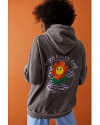 Urban Outfitters Uo Have A Nice Day Skate Hoodie - Grey