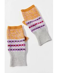 Urban Outfitters Uo Vintage Marled Fingerless Glove - Multicolor