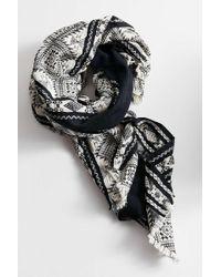 Urban Outfitters - Metallic Geometric Weave Scarf - Lyst