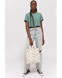 Urban Outfitters Uo Embroidered Canvas Tote Bag - Natural