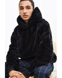 Urban Outfitters - Uo Faux Fur Hoodie Sweatshirt - Lyst