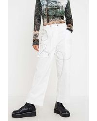 House Of Sunny White Cargo Trousers