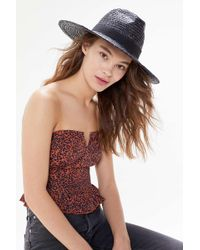 Urban Outfitters Uo Straw Rancher Hat - Multicolour