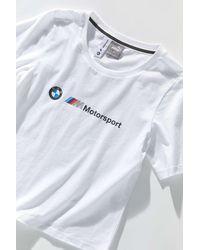 PUMA X Bmw M Motorsport Logo Tee - White