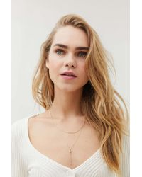 Urban Outfitters Celestial Layered Lariat Necklace - Multicolor
