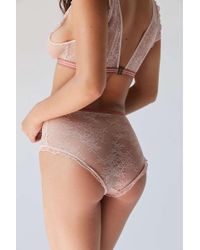 Love Stories Moonflower Lace High-waisted Undie - Brown
