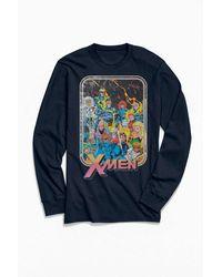 Urban Outfitters Marvel X-men Vintage Long Sleeve Tee - Blue
