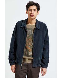 Urban Outfitters Uo Corduroy Harrington Jacket - Blue