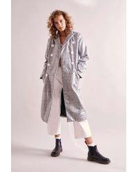 House Of Sunny - Tailored Nostalgia Plaid Trench Coat - Womens Uk 8 - Lyst