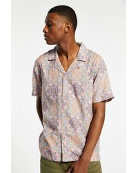 Native Youth Paisley Button-down Shirt - Pink