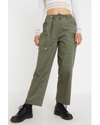 House Of Sunny Khaki Cargo Trousers - Green